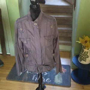 Light Gray Jacket   Ties at Waist Super Cute